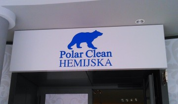 Alu Bond reklama Polar Clean