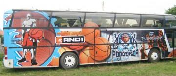 Autobus AND1 brendiranje autografika
