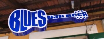 blues bar alubond rklama
