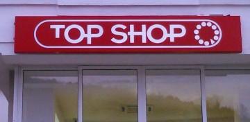 Top Shop alubond reklama