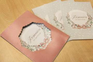 Dizajn, štampa i lasersko rezanje pozivnica za vjenčanje Vapor Podogorica
