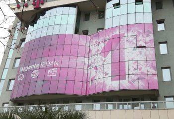 Mesh cerade za fasadu T-com Podgorica